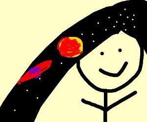 Galactic hair