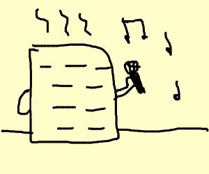 Heater singing karaoke