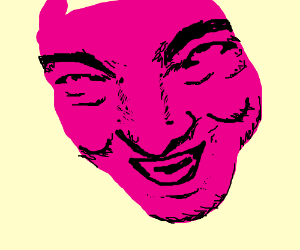 Pink theater mask