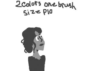 2 Colors, one brush size PIO