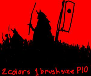 2 colors 1 brush size pio