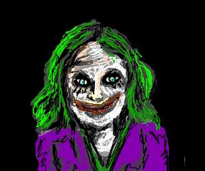 Female Joker glowing in the dark