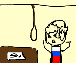 Suicidal Russian With Bad Handwriting.