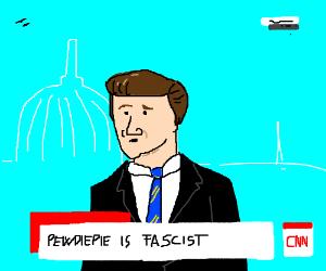 CNN (Fake News) Says Pewdiepie is fascist