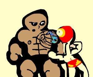 Give the rock a 'hug', Jabronji!