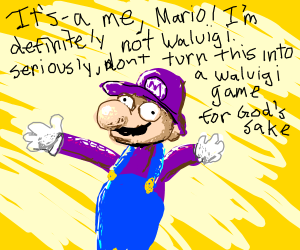 Purple Mario (Not Waluigi, Just Mario)
