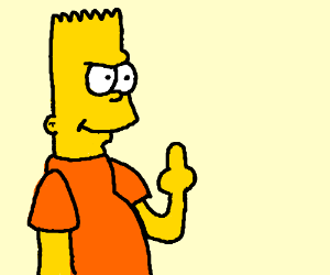 bort flips off YOU