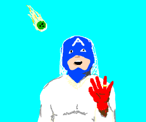 Bride Capt. America hit by bowling ball meteor