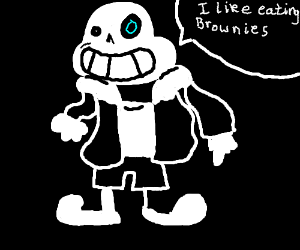 Distorted sans likes eating living brownies.