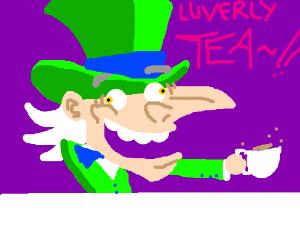 mad hatter enjoying tea