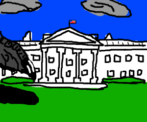 Godzilla visits the White House