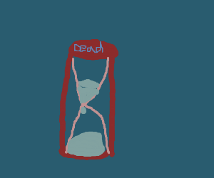 The hourglass counts down to your death.