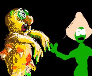 Zombie yellmo going after Peridot