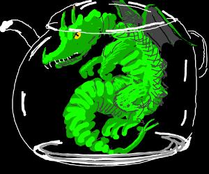 Dragon in a teapot