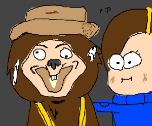 Mabel with Bear-O (Gravity Falls)