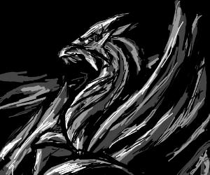 A majestic dragon