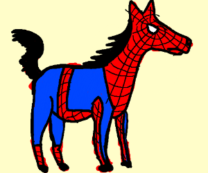 Spider man but as a horse