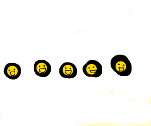 5 laughing emojis