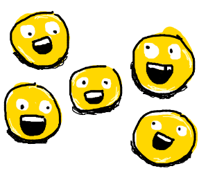 5 smily faces