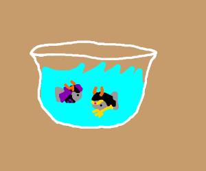 Evil demonic goldfish bowl.