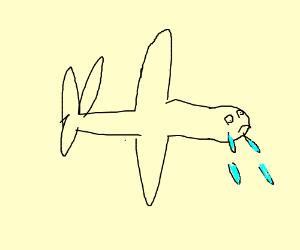 sad floppy plane crying