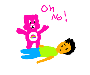 Pink CareBear care to much on a child
