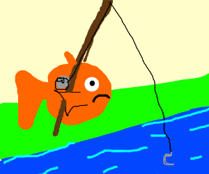 A fish is fishing