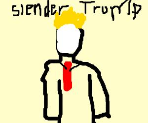 fusion of trump and slenderman