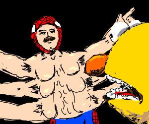 Literal spider man vs yellow guy w orange nose