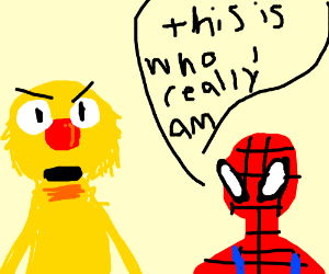 Yellmo discovers the real spiderman