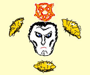 three hairy lemons and a creepy face