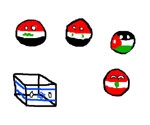 All middle eastern balls (also one cube)