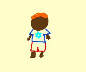 Dark skinned man with red hair and is jew?