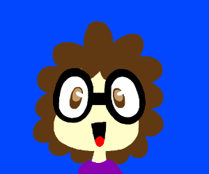 Happy person wearing glasses