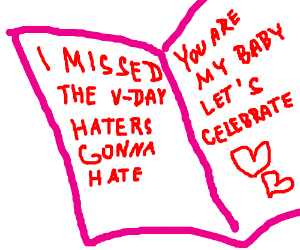 Late Valentine's Day Card