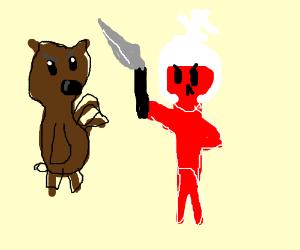 bear fighting red knight