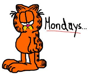 I Hate Mondays Garfield Drawception