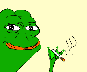 Pepe Smoking