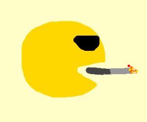Pacman takes drugs