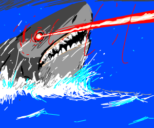 sharks with frickin laser beams