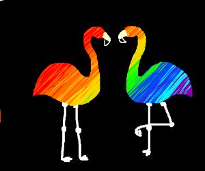 a sunset on flamingo beach - Drawception