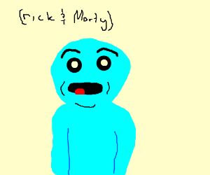 Blue man from rick and morty