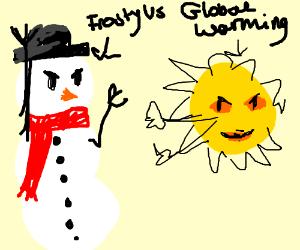 Frosty V. Global warming