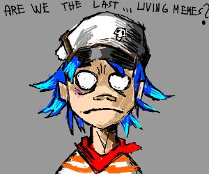 2D from Gorillaz wonders if he's a dead meme