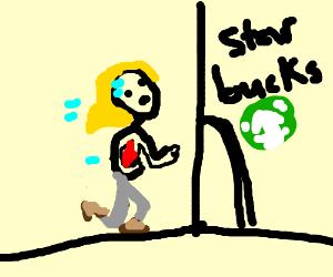 Running to Starbucks