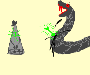 Bill cypher fighting a female snake