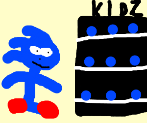 sanic is shopping for his kidds