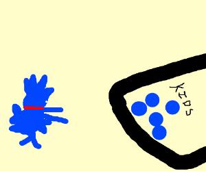 "Derpy sonic shops for blue balls labeled""Kidz"""