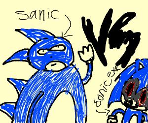 sonic vs sanic - Drawception