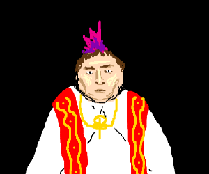 Young Pope (?) with mohawk